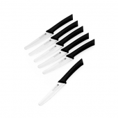 Scanpan Spectrum 6 Piece Steak Knife Set Black