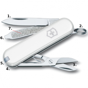 Victorinox Classic SD Swiss Army Knife - White