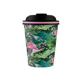 Avanti Go Cup 280ml Flamingo Leaf
