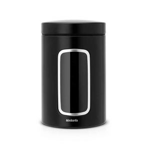 Brabantia Window Canister 1.4L Matte Black