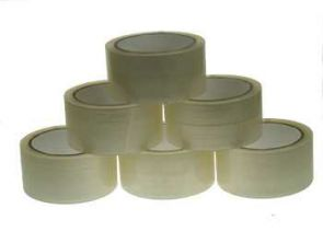 45 Micron Packaging Clear Tape - 48mm x 75m (6 units)