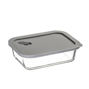 ClickClack Rectangular Food Container 1L Grey