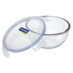 Glasslock Tempered Glass Mixing/Storage Bowl 2L