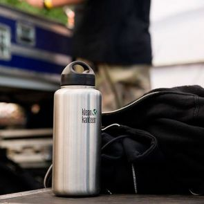 Klean Kanteen Wide Stainless Steel Bottle with Loop Cap 1182ml