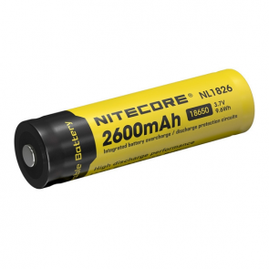 Nitecore NL1826 Li-ion 18650 Battery - 2600mAh