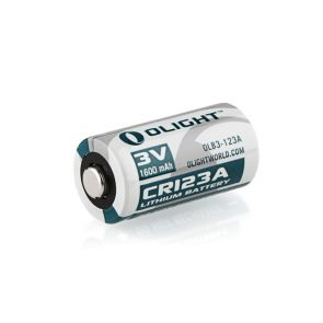 Olight CR123A 3V Lithium Battery - 1600mAh