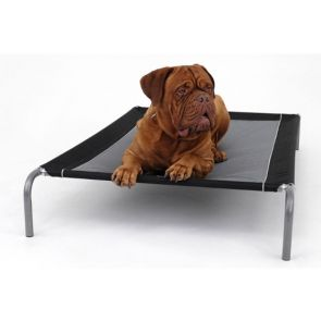 Purina Petlife Alfresco Deluxe Raised Dog Bed - Black