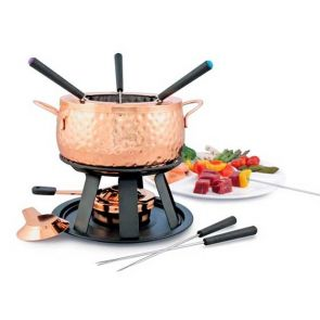 Swissmar Biel 11pc Fondue Set Copper