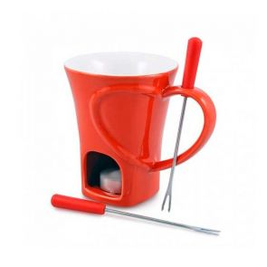 Swissmar Sweetheart 4pc Chocolate Fondue Mug Set
