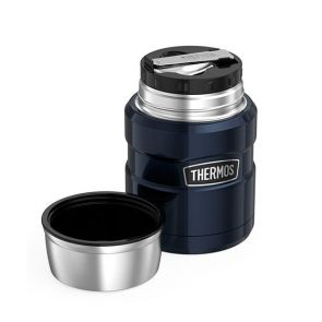 Thermos Stainless Steel King Vacuum Insulated Food Jar 470ml Midnight Blue