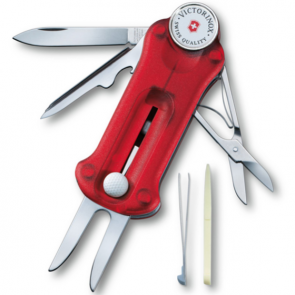 Victorinox GolfTool Swiss Sport Tool - Transparent Red