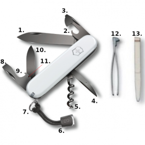 Victorinox Spartan PS Swiss Army Knife - White